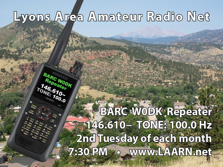 Lyons Area Amateur Radio Net postcard