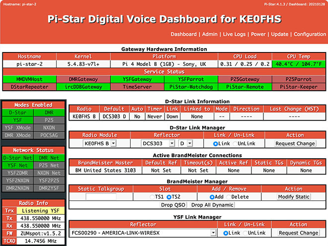 Amateur radio: Pi-Star