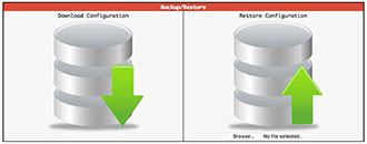 Initiating a Pi-Star configuration backup or restore
