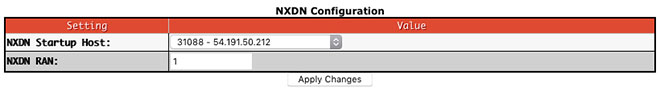 Digital mode configuration settings - NXDN