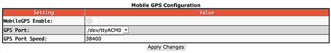 Additional configuration settings - Mobile GPS Configuraiton