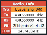 Pi-Star Radio Info TRX - Mode-specific listening