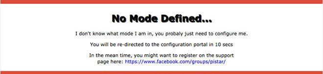 No Mode Defined